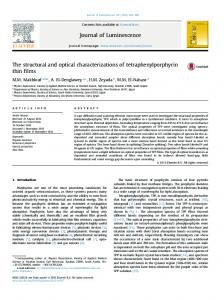 The structural and optical characterizations of ...