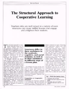 The Structural Approach to Cooperative Learning - ASCD