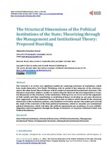 The Structural Dimensions of the Political Institutions of the State ...