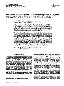 The Structural Stability and Mechanical Properties of