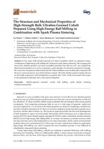 The Structure and Mechanical Properties of High ... - Semantic Scholar