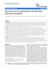 The structure of a reduced form of OxyR from Neisseria ... - Core