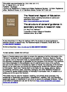 The Structure of Careers' Guidance in Secondary ...