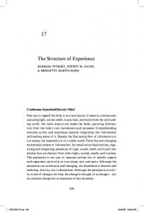 The Structure of Experience - Arts & Sciences Pages