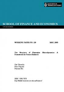 The Structure of Keynesian Macrodynamics: A ... - SSRN papers