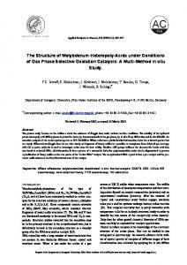 The Structure of Molybdenum-Heteropoly-Acids under Conditions of