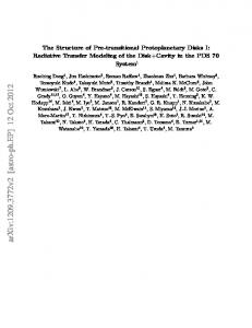 The Structure of Pre-transitional Protoplanetary Disks I: Radiative ...