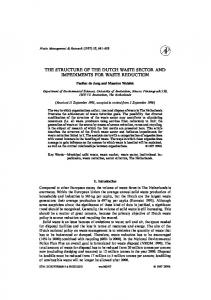the structure of the dutch waste sector and ... - Semantic Scholar