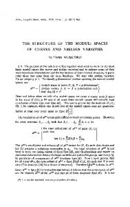the structure of the moduli spaces of curves and ... - Semantic Scholar