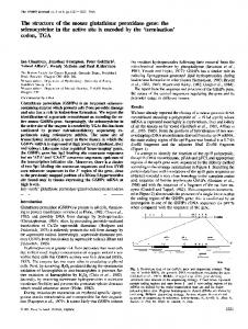 The structure of the mouse glutathione peroxidase gene - NCBI