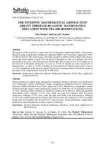 the students' mathematical abstraction ability through