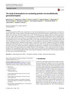 The study of atmospheric ice-nucleating particles via microfluidically ...