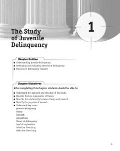 The Study of Juvenile Delinquency