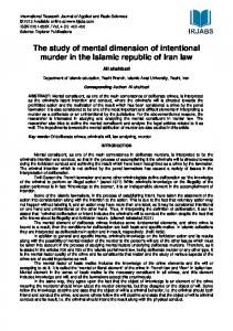 The study of mental dimension of intentional murder in ... - irjabs.com
