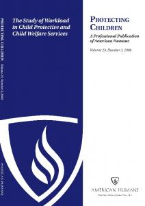 The Study of Workload in Child Protection and Child ... - CalSWEC
