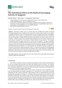 The Substituent Effect on the Radical Scavenging Activity of ... - MDPI