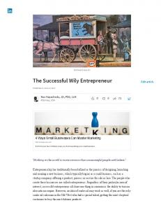 The Successful Wily Entrepreneur