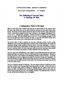 The Suffering of God and man - New Creation Library