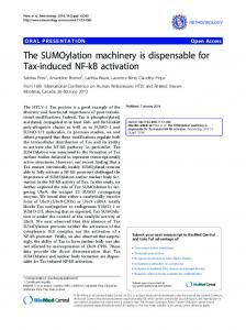 The SUMOylation machinery is dispensable for Tax ...