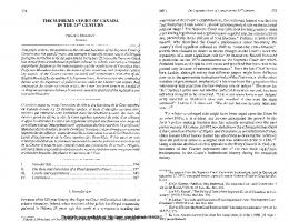 the supreme court of canada - SSRN papers