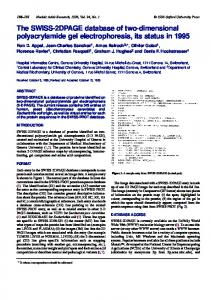 The SWISS-2DPAGE database of two-dimensional ... - BioMedSearch