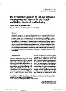 The Symbiotic Division of Labour between