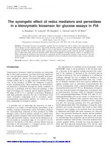The synergetIc effect of redox mediators and ... - Semantic Scholar