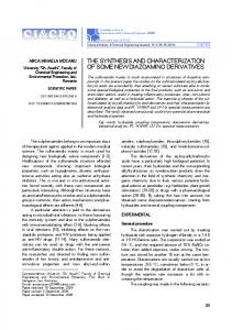 the synthesis and characterization of some new diazoamino derivatives