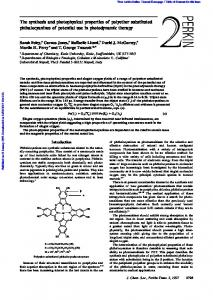 The synthesis and photophysical properties of