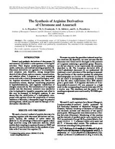 The synthesis of arginine derivatives of chromone and ... - Springer Link