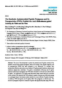 The Synthetic Antimicrobial Peptide Pexiganan