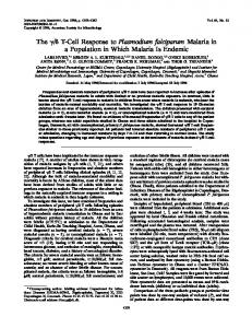 The / T-Cell Response to Plasmodium falciparum Malaria in a ...