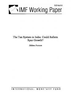 The Tax System in India - IMF