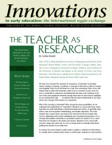 The teacher as researcher. Innovations in Early Education