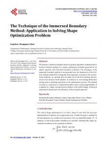 The Technique of the Immersed Boundary Method - Scientific