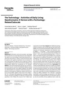 The Technology - Activities of Daily Living ...