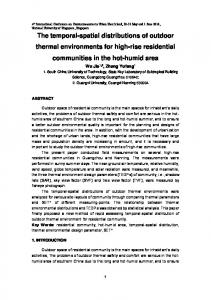 The temporal-spatial distributions of outdoor ...