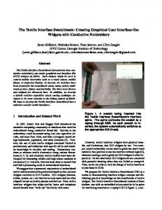 The Textile Interface Swatchbook: Creating Graphical User Interface ...