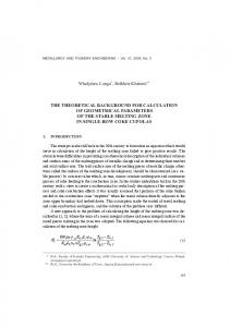 the theoretical background for calculation of geometrical parameters ...