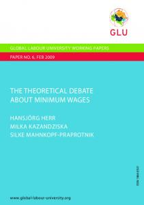The Theoretical Debate about Minimum Wages - The Global Labour ...