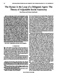the theory of adjustable social autonomy - Semantic Scholar