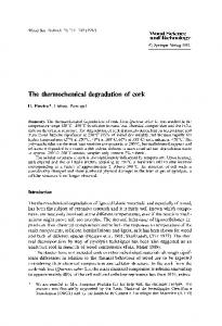 The thermochemical degradation of cork - Springer Link