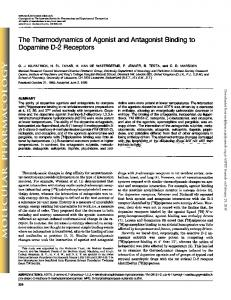 The Thermodynamics of Agonist and Antagonist ...