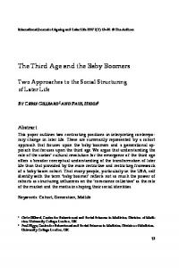 The Third Age and the Baby Boomers Two ... - Semantic Scholar
