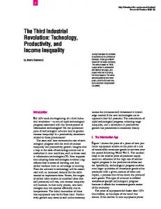 The Third Industrial Revolution: Technology, Productivity, and ...