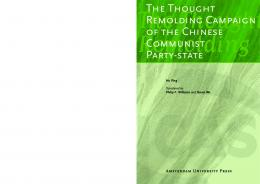 The Thought Remolding Campaign of the Chinese Communist Party ...