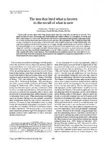 The ties that bind what is known to the recall of what is ... - Springer Link