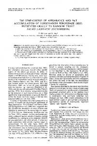 the time-course of appearance and net accumulation of horseradish ...