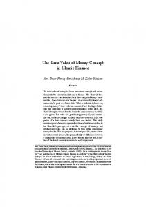 The Time Value of Money Concept in Islamic Finance