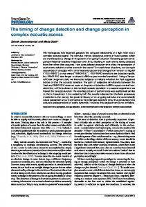 The timing of change detection and change perception in ... - Core